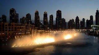 Dubai magic fountain 2016