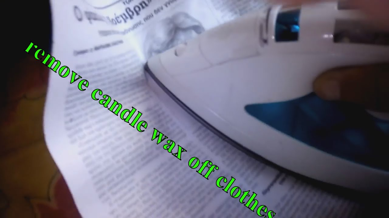 how to clean wax off clothes