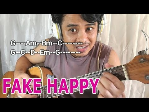 FAKE HAPPY chords guitar guide (Paramore) - Pareng Don tutorials for Intl Songs