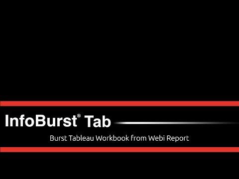 InfoBurst Tab – Seamless Integration Between BusinessObjects & Tableau