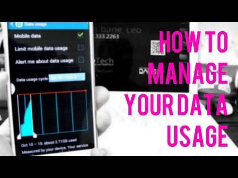 How to not go over your data usage on Samsung Galaxy Note 3 Note 2 S3 S4