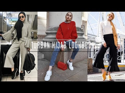 CASUAL OUTFIT IDEAS |  Turban hijab style ! - YouTube
