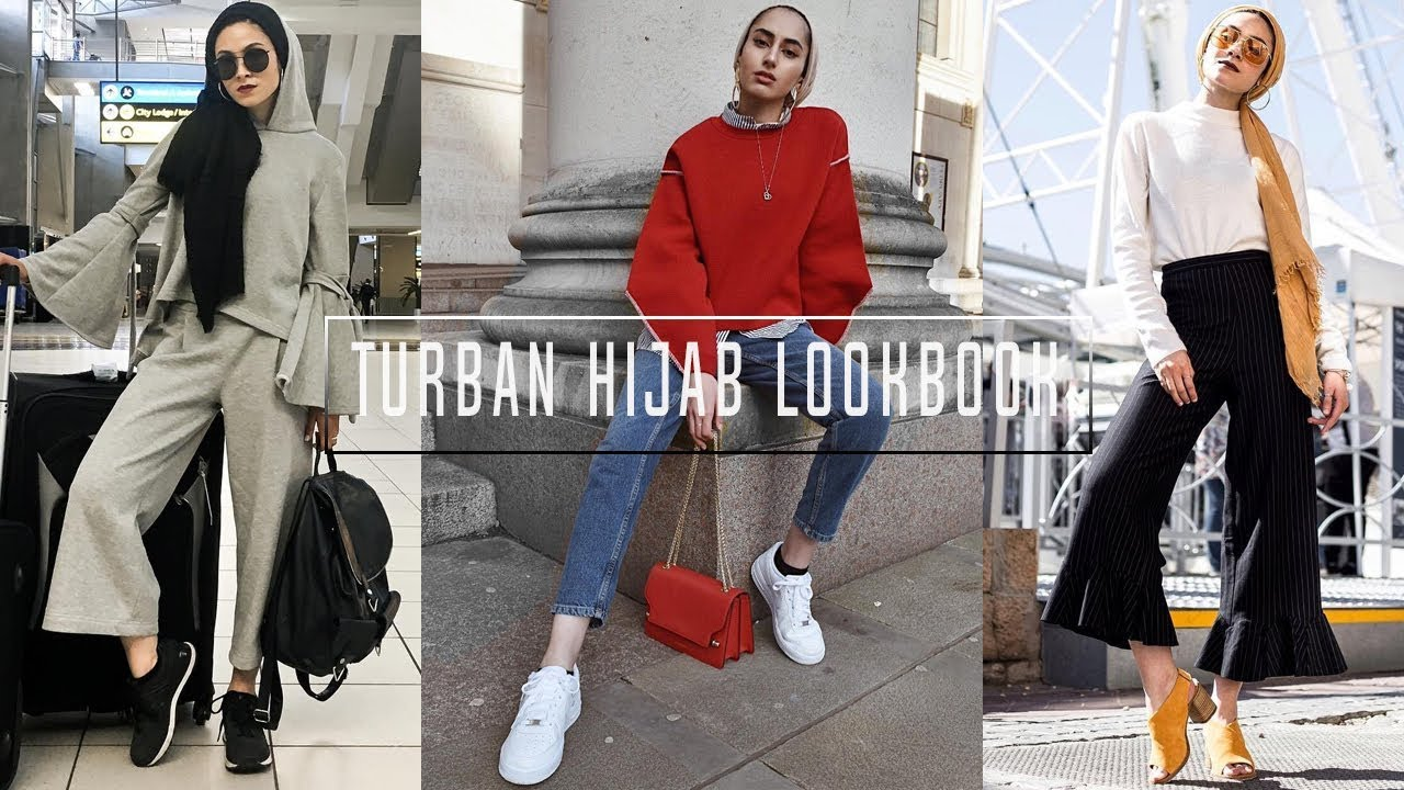 CASUAL OUTFIT IDEAS    Turban hijab style ! 2