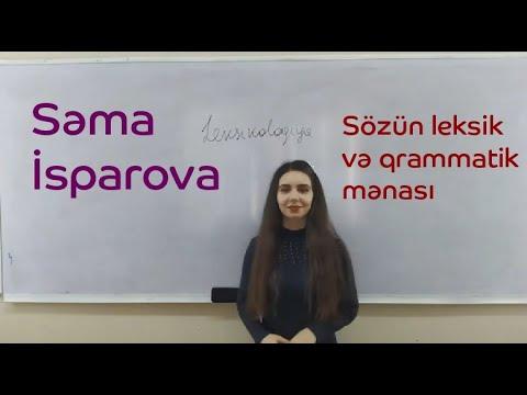 Leksik və qrammatik şəkilçinin asan yolla fərqləndirilməsi