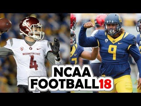 Washington State @ California - 10-13-17 NCAA Football 18 PRESEASON Simulation