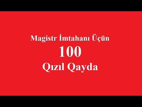 Magistr Imtahanı Üçün 100 Qızıl Qayda