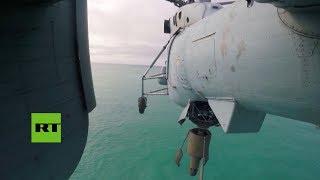 Helicópteros de la Flota del Norte de Rusia inician ejercicios antisubmarinos