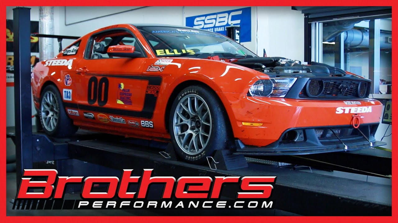 Ford mustang boss 302s race car on the dyno at brothers performance ford mustang boss 302s race car on the dyno at brothers performance youtube freerunsca Choice Image