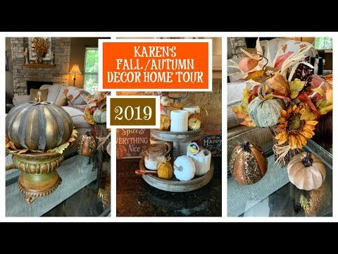 Karen's 🍂FALL/AUTUMN🍁  Decor Home Tour | 2019 | Fall Series | The2Orchids