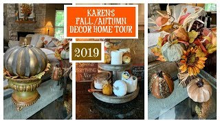 Karen's 🍂FALL/AUTUMN🍁  Decor Home Tour | 2019 | Fall Series | The2Orchids