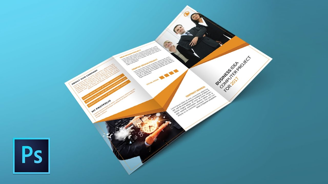 How to design a trifold brochure in Photoshop