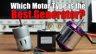 Which Motor Type is the Best Generator? || DC, BLDC or Stepper? (Experiment)