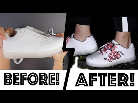 Our First Custom Sneaker! – Gucci Snake Customized Sneakers
