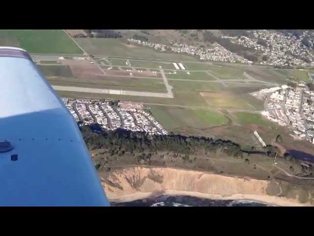 Taking off from Half Moon Bay Airport.