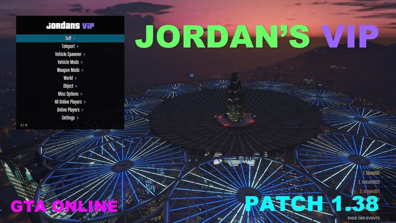 GTA 5 Online Mod Menu 1.38 JORDANS 4.4 VIP! INSANE! UNDETECTED [PC] [1.38]