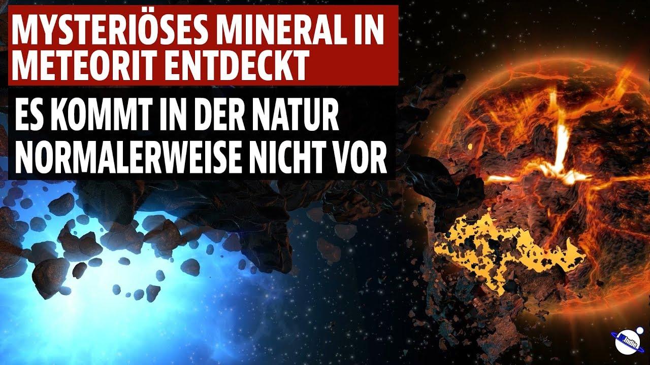 Mysteriöses Mineral in Meteorit entdeckt - Es kommt in der Natur nicht vor