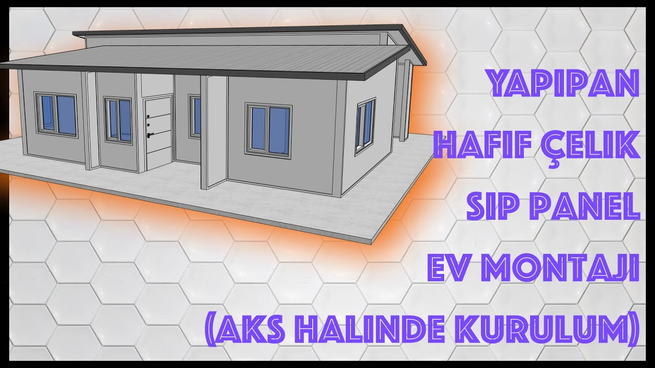 Hafif Çelik SIP Panel Ev Animasyonu, Steel SIP Panel House Installation Animation