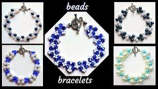 5 beaded bracelets pattern. Beginner beading tutorials