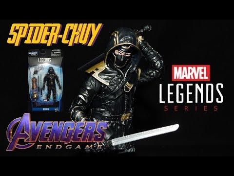 Reseña RONIN AVENGERS ENDGAME Marvel Legends   Thanos BAF   Hasbro Review Figura Hawkeye Barton