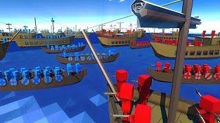 САМЫЕ БОЛЬШИЕ МОРСКИЕ БИТВЫ! [ NEW Ancient Warfare 2  Ancient Warfare 2 Naval Battles Gameplay ]