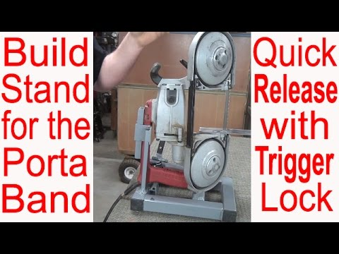 Ultimate Portable BandSaw Stand Design with TOUR * Make Vertical Bandsaw