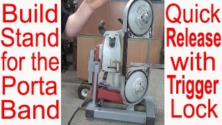 Ultimate Portable BandSaw Stand Design with TOUR Make Vertical Bandsaw