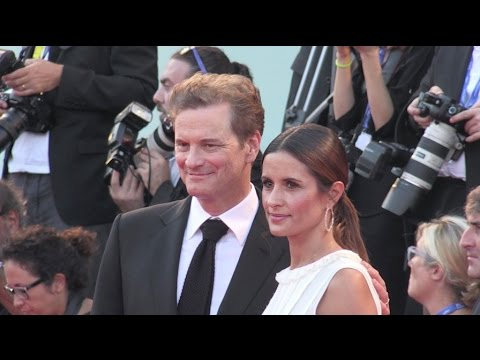 Colin Firth and his wife on the red carpet for the Premiere of Nocturnal Animals in Venice