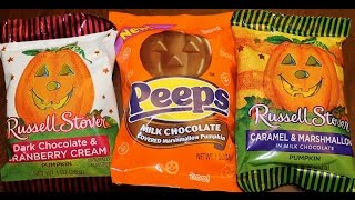 Russell Stover Cranberry Cream, Peeps Chocolate Covered & Russell Stover Caramel Marshmallow Review