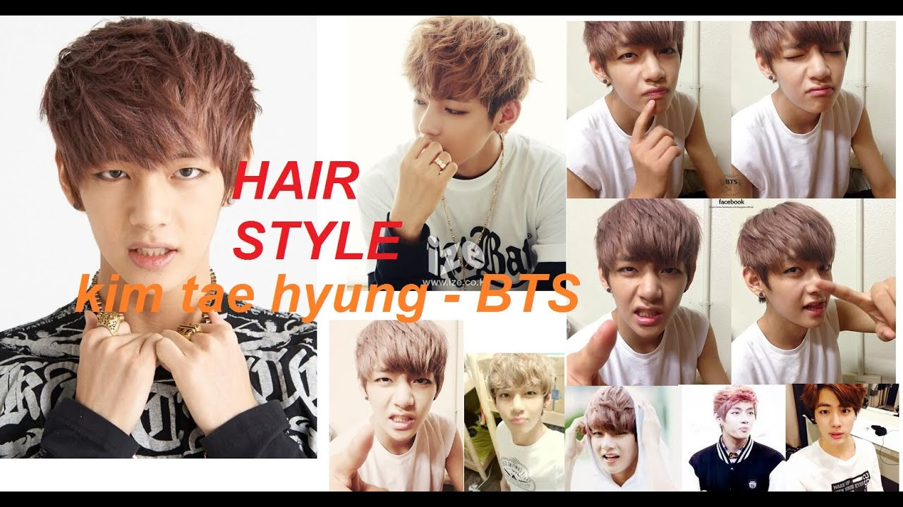 MEN HAIRR KIM TAE HYUNG KPOP STAR BTS YouTube - Bts v hairstyle tutorial