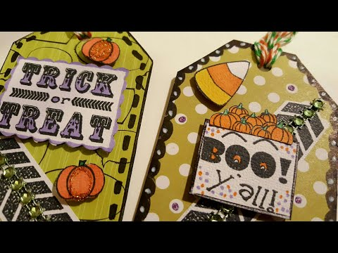 DIY HALLOWEEN GIFT TAGS USING CEREAL BOXES | PAPER CRAFTING