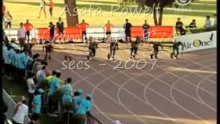 Mens 100 Metre World Record Progressions