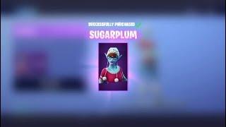 (Fortnite) buying the Sugarplum skin!!!