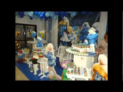 DECORAÇÃO FESTA INFANTIL DOS SMURFS NO RJ (21) 3902-8279