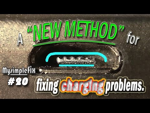 """(NEW method) """"Simple Fix"""" for phone not charging/syncing, loose cell phone charger cord. #20"""