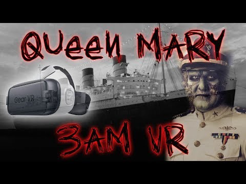 HAUNTED QUEEN MARY SHIP IN VR 4K  3AM CHALLENGE IN 360