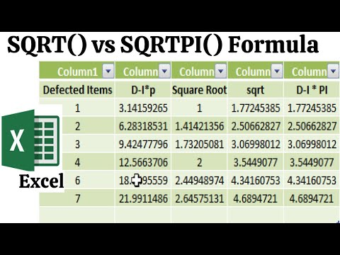 SQRT Vs SQRTPI Formula Excel | Advance Excel Tutorial