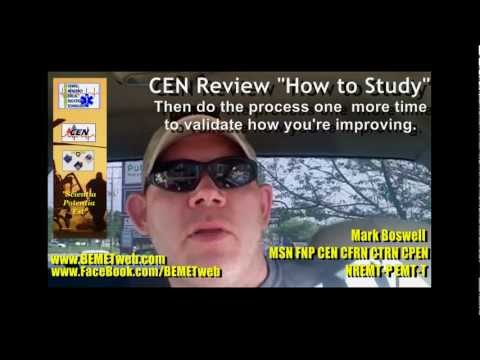 """CEN Review  - """"How to Study for the CEN Exam"""""""