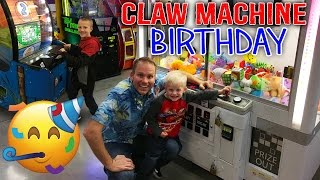 Birthday Party!! Giant Claw Machines & Arcade Games for Kids