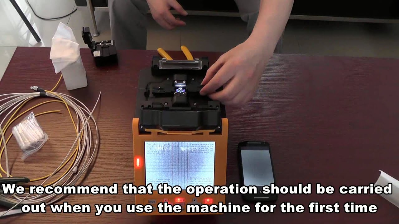 Operation Video For Automatic Intelligent Optical Fiber Fusion Ai 7 Splicer Youtube