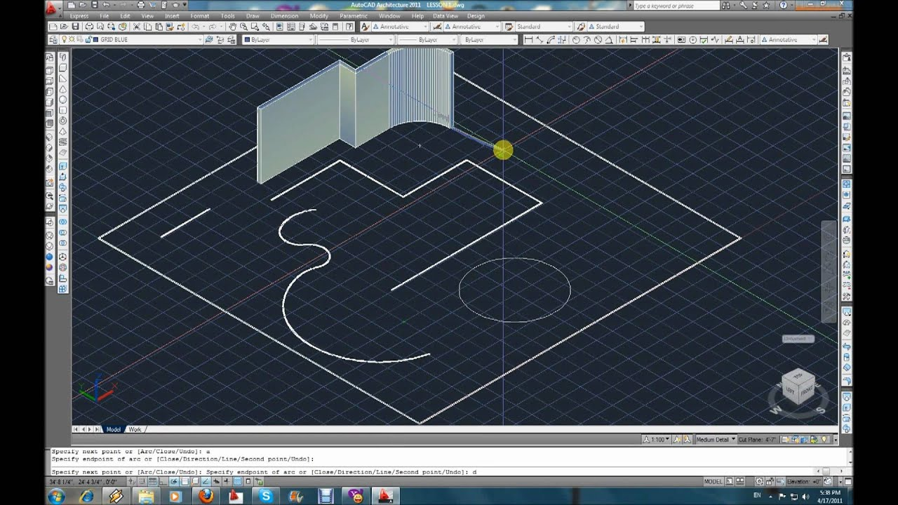 Autocad 3d Modeling Tutorial Part 1 Polysolid Youtube