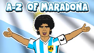 📕DIEGO MARADONA A-Z📘 (Goals Hand of God Goal of the Century Highlights 1986 Mexico)