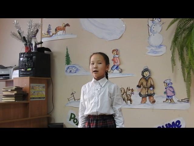 Изображение предпросмотра прочтения – АлинаМонгуш читает произведение «Снежок» Н.А.Некрасова