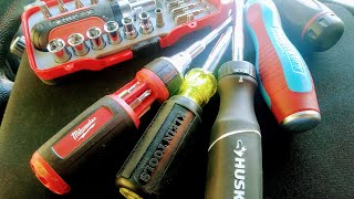 Klein and Husky: The BEST Ratcheting/ Multi-bit Screwdrivers For The Money! (👎 Milwaukee)