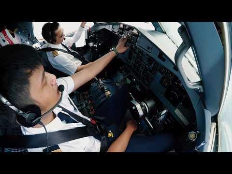 Mendarat di Bandara Kualanamu International Airport Medan (KNO) | Cockpit / Pilot View