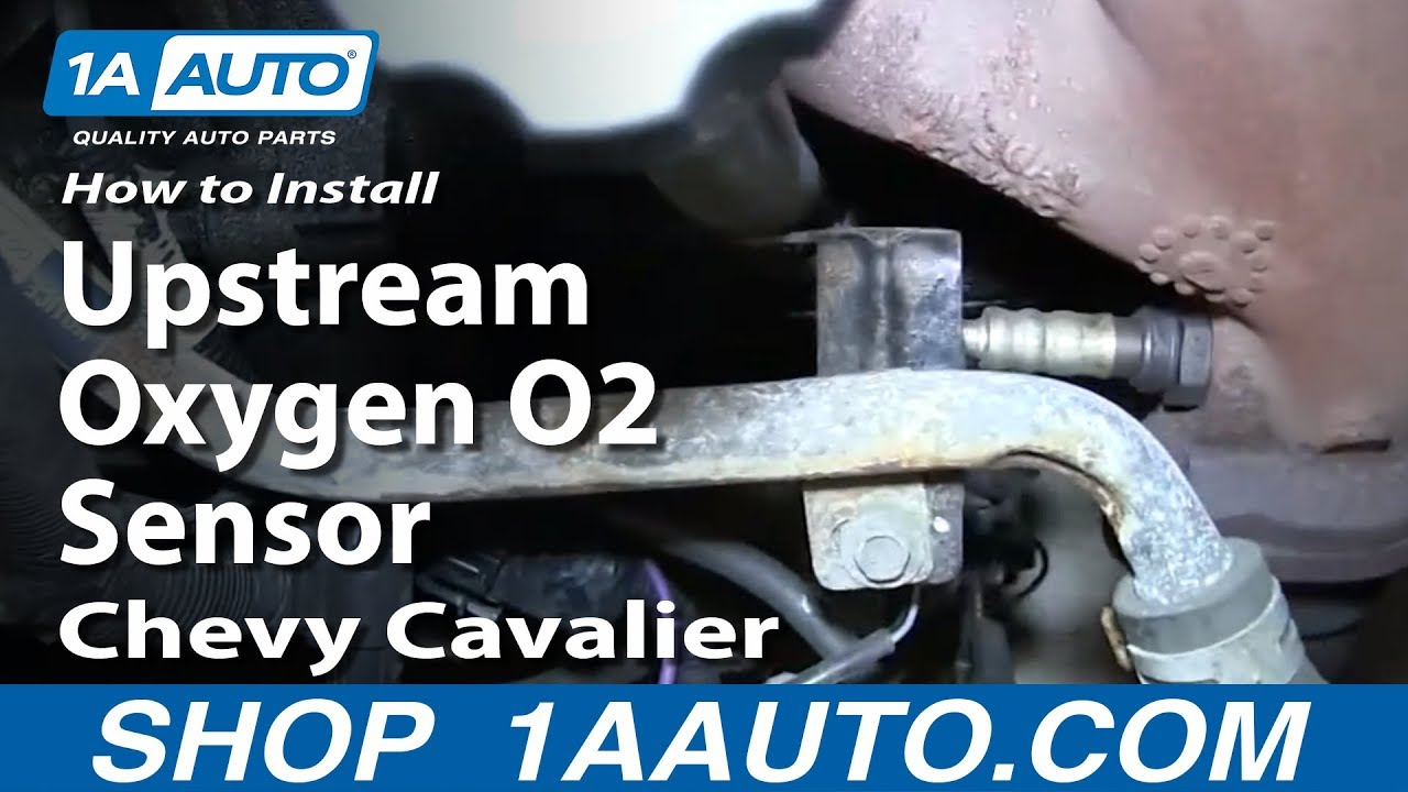hight resolution of how to install replace front upstream oxygen o2 sensor 2000 02 chevy cavalier 2 4l