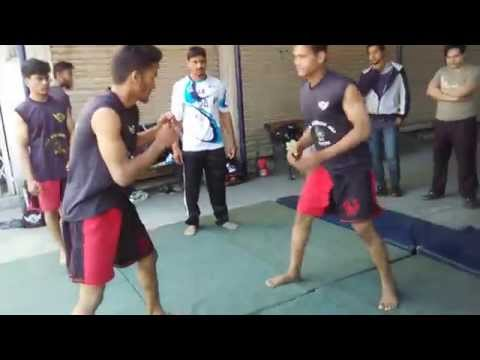 Wrestler Aamer Ashraf training fighters at Hyderabad MMA