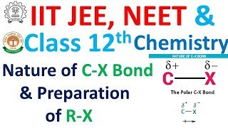 Nature of C-X and Preparation of R-X for IIT JEE, NEET, Class 12 and All Other Competitive Exams