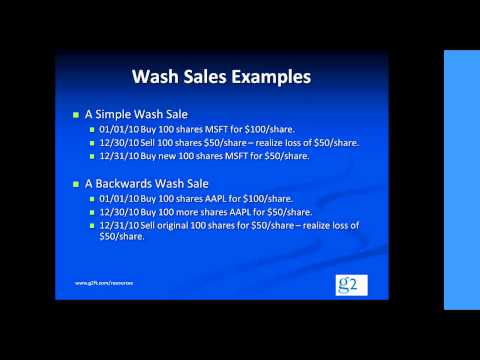 Video clip on Wash Sales (Section 1091)