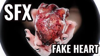 EASY & CHEAP How to Create a Fake Heart | SFX Makeup for Beginners