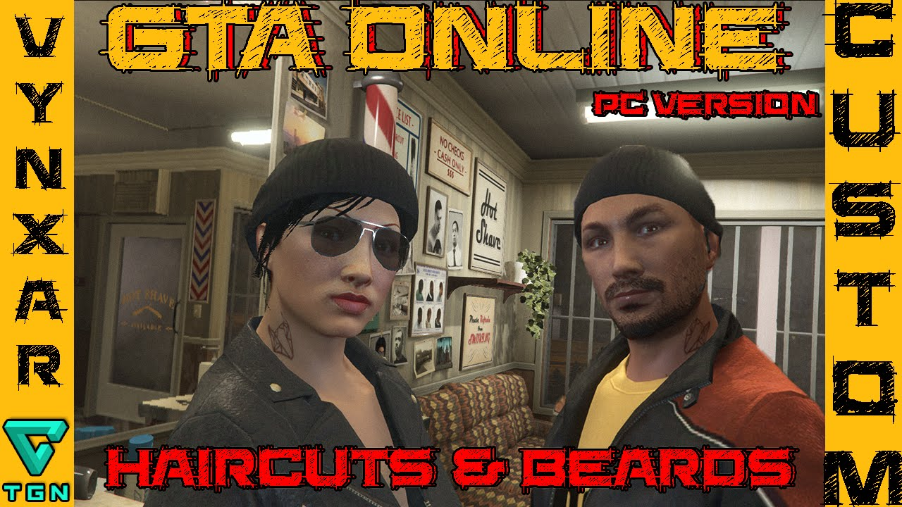 Gta Online All Haircuts Beards Youtube